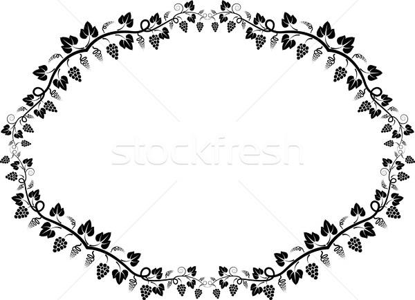 Vigne cadre silhouette design laisse frontière Photo stock © mtmmarek