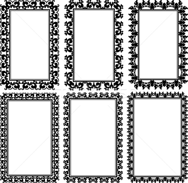 Rettangolare fotogrammi set ornamenti texture sfondo Foto d'archivio © mtmmarek
