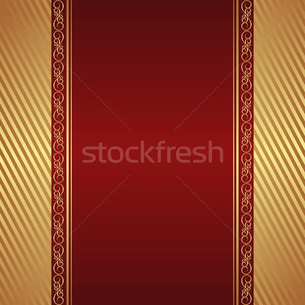 Hochrot golden Ornamente Textur abstrakten rot Stock foto © mtmmarek