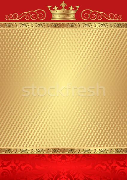 королевский текстуры аннотация фон золото корона Сток-фото © mtmmarek