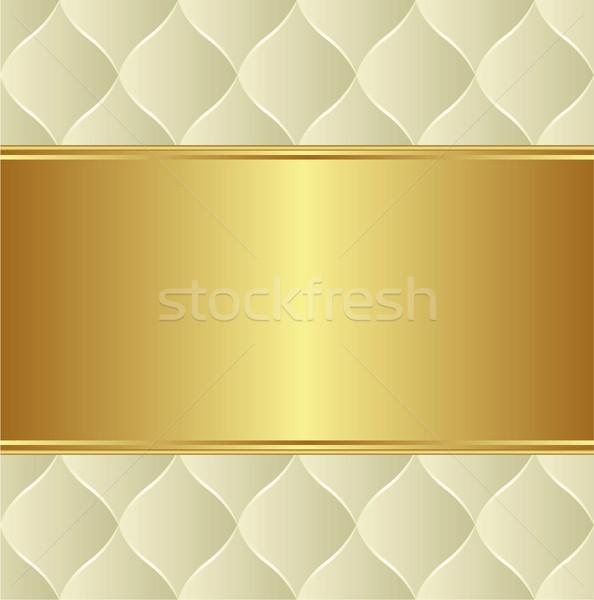 Kremsi altın bo soyut dizayn uzay Stok fotoğraf © mtmmarek