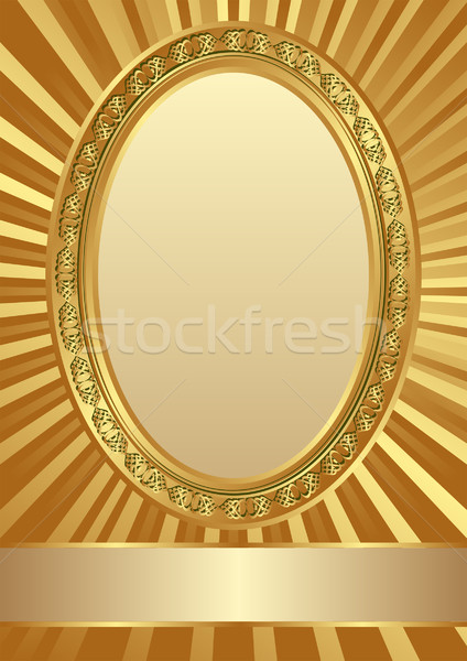 gold frame Stock photo © mtmmarek