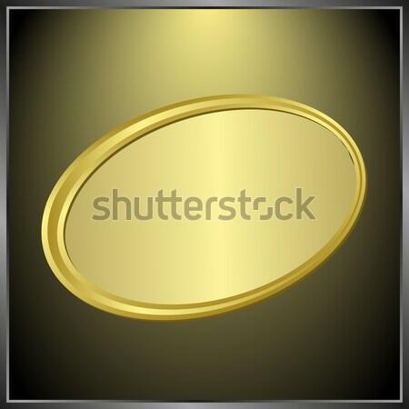 Megvilágított szalag fekete háttér tányér arany Stock fotó © mtmmarek