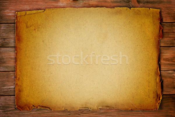 ヴィンテージ 古い紙 木板 紙 デザイン 背景 ストックフォト © mtmmarek