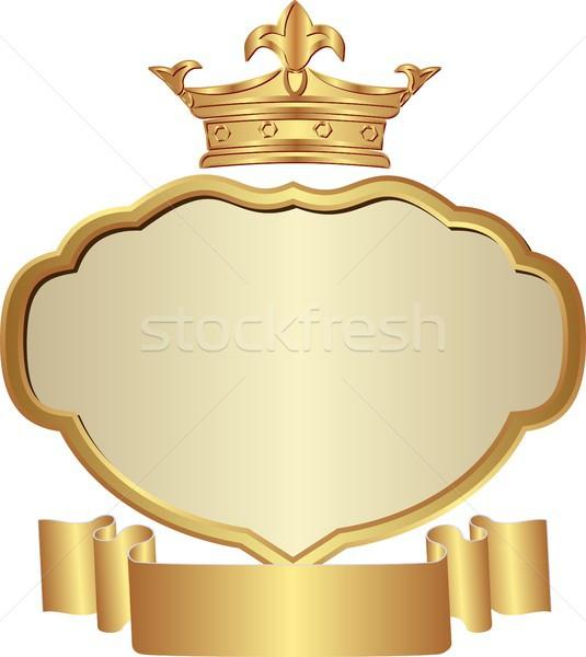 Korona izolált arany keret terv kártya Stock fotó © mtmmarek