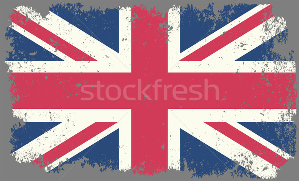 Großbritannien Grunge Flagge Hintergrund Jahrgang Land Stock foto © mtmmarek
