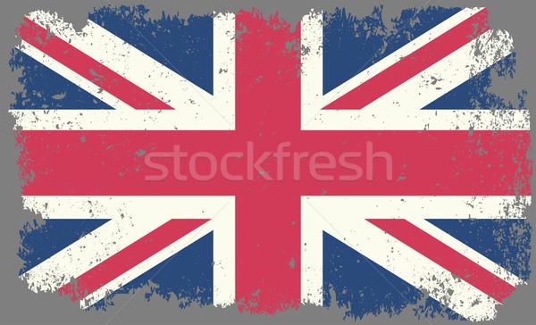 Wielka brytania grunge banderą tle vintage kraju Zdjęcia stock © mtmmarek
