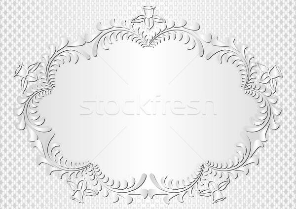 Biały kwiatowy granicy kwiaty tekstury projektu Zdjęcia stock © mtmmarek