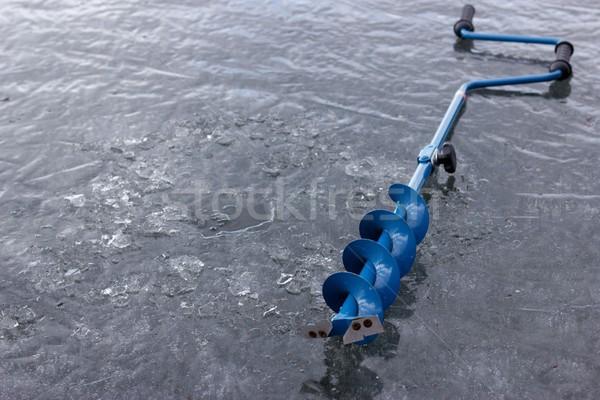льда стороны заморожены озеро зима Сток-фото © mtmmarek