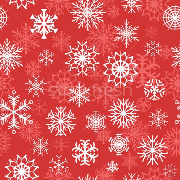 красный бесшовный аннотация дизайна снега Сток-фото © mtmmarek