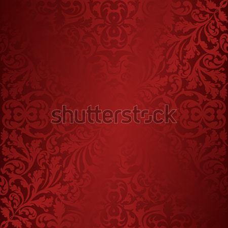 Gesztenyebarna piros díszek absztrakt háttér sötét Stock fotó © mtmmarek