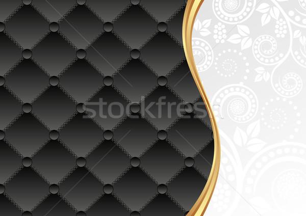 черно белые декоративный шаблон цветочный украшения аннотация Сток-фото © mtmmarek