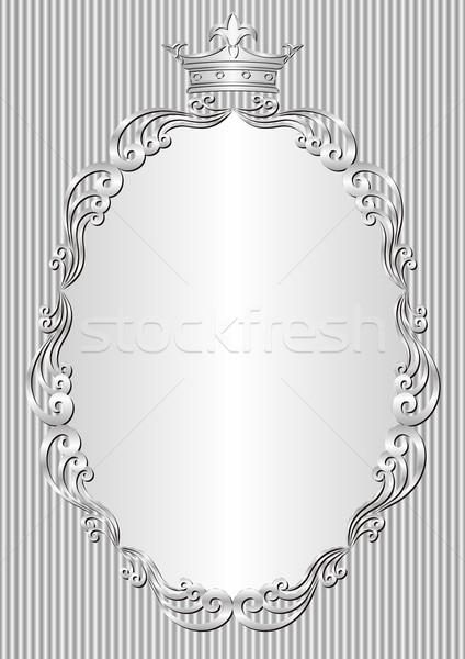 серебро королевский кадр корона Vintage стиль Сток-фото © mtmmarek