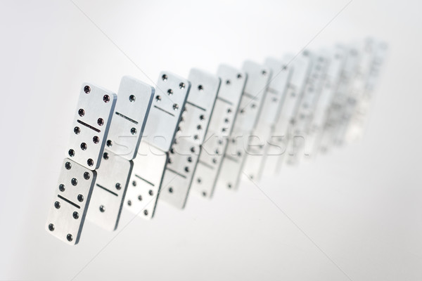 Steel dominoes in a row Stock photo © mtoome