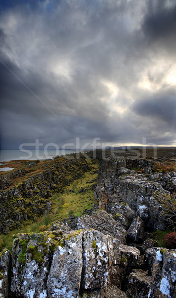 A view to a rocky mountains Stock photo © mtoome
