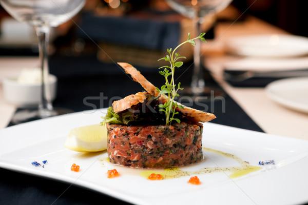 Salmon tartar Stock photo © mtoome