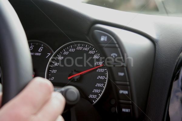 Carro condução vermelho interior anel Foto stock © mtoome