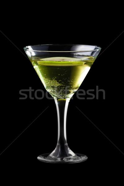 Manzana martini aislado negro luz fondo Foto stock © mtoome
