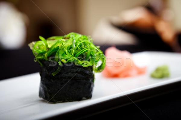 Sushi wodorost serwowane tablicy imbir wasabi Zdjęcia stock © mtoome