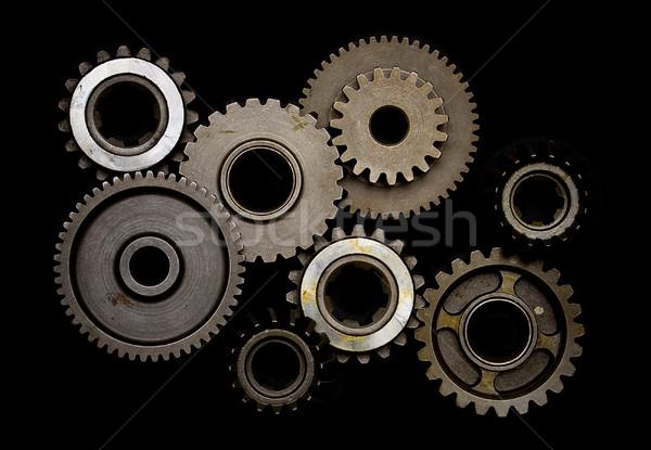 Establecer artes aislado negro trabajo tecnología Foto stock © mtoome