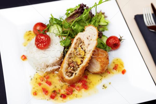 Stuffed chicken fillet Stock photo © mtoome