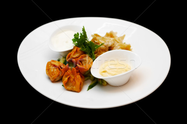 Steamed and deep fried duckleg wontons Stock photo © mtoome