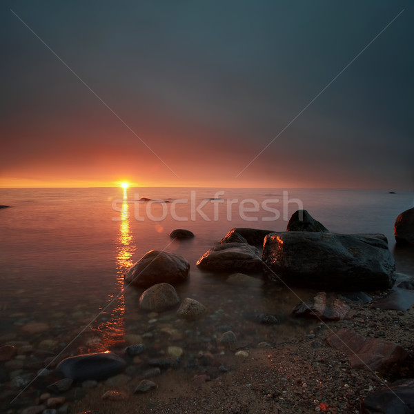 Mysterious sunset Stock photo © mtoome