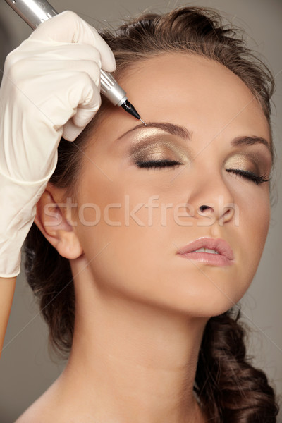 Permanent make-up Stock photo © mtoome