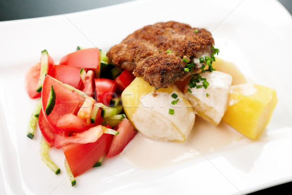 Cutlet with vegetables Stock photo © mtoome