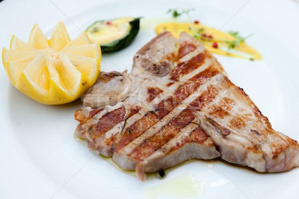 стейк стиль лимона продовольствие корова ресторан Сток-фото © mtoome