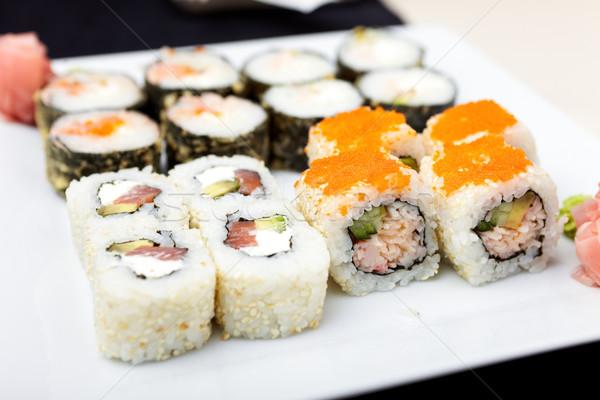 Sushi establecer camarón atún trucha anguila Foto stock © mtoome