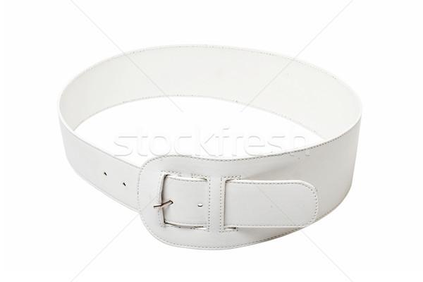 Blanco cuero cinturón aislado naranja hombres Foto stock © mtoome