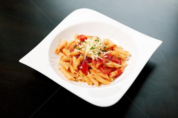 Pasta salsa salsa de tomate hierbas hoja salud Foto stock © mtoome