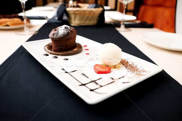 Chocolate fondant Stock photo © mtoome