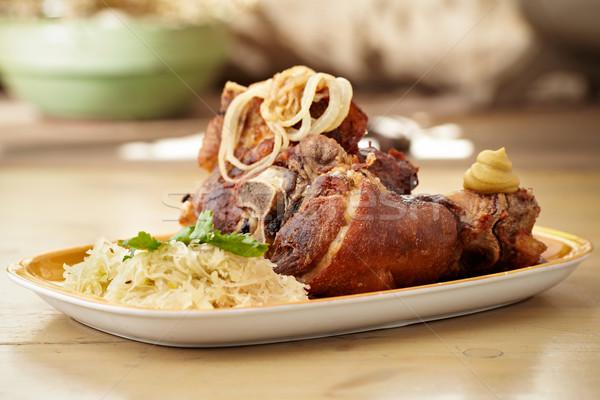 Croccante carne di maiale crauti patate alimentare Foto d'archivio © mtoome