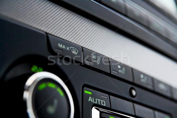 Auto klimaat controle knoppen detail ontwerp Stockfoto © mtoome