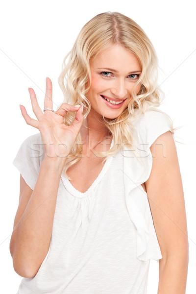 Cute sonrisa jóvenes sonriendo nina aislado Foto stock © mtoome