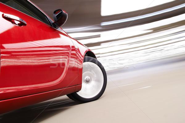 Baş dönmesi araba yandan görünüş lüks hareket spor Stok fotoğraf © mtoome