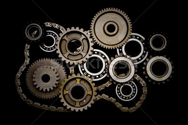 Establecer artes cadena aislado negro fondo Foto stock © mtoome