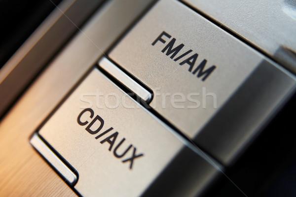 Car cd-radio control buttons Stock photo © mtoome