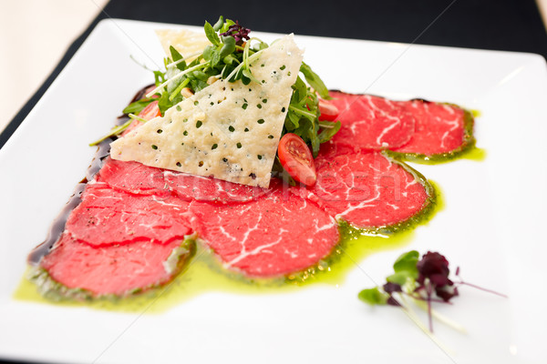 Beef carpaccio Stock photo © mtoome