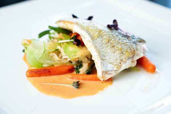 Fried whitefish Stock photo © mtoome