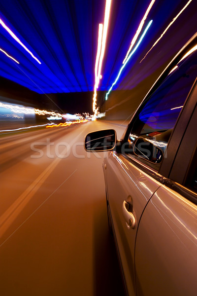Car driving fast Stock photo © mtoome