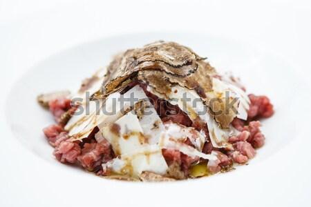Ternera parmesano aderezo huevo Foto stock © mtoome