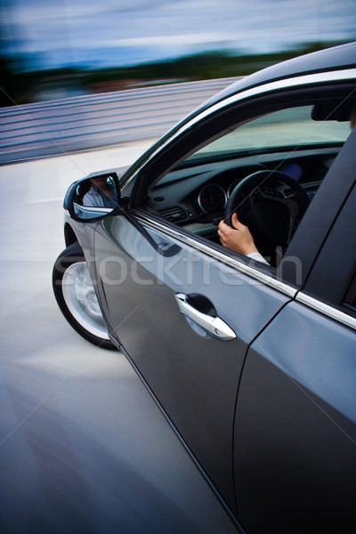 Car driving fast. Stock photo © mtoome