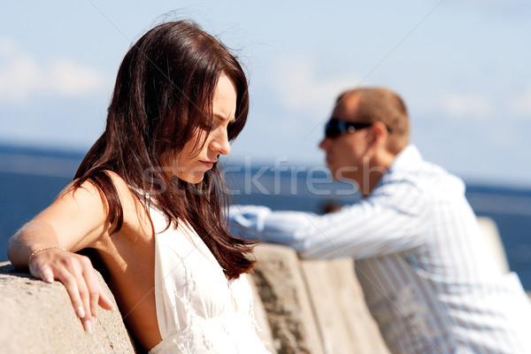 человека женщину пирс семьи девушки женщины Сток-фото © mtoome