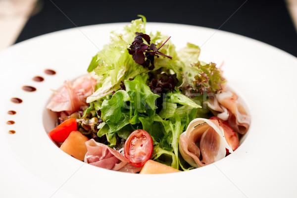 Verde ensalada jamón melón alimentos hoja Foto stock © mtoome