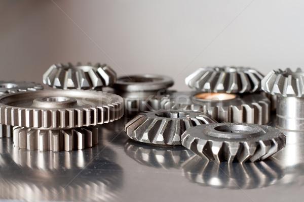 Establecer pulido acero superficie Foto stock © mtoome