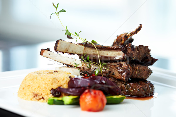 Grilled lamb Stock photo © mtoome