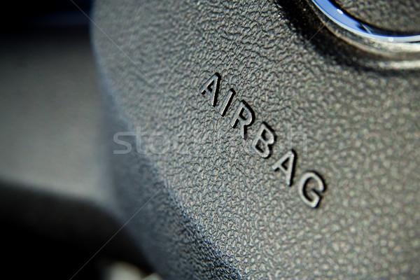 Airbag symbol kierownica samochodu technologii Zdjęcia stock © mtoome